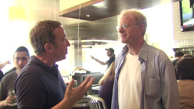 tim allen ed begley jr at the coney dog grand opening benefiting the midnight mission at west hollywood ca - tim allen stock videos and b-roll footage