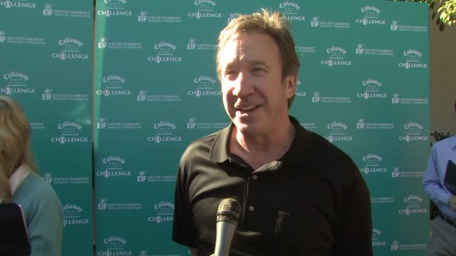 interview tim allen on attending today's event on his favorite thing about golf and on his best golfing moment at the callaway golf foundation's... - tim allen stock videos and b-roll footage