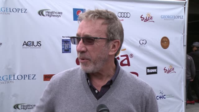 INTERVIEW Tim Allen on being a part of today what he appreciates about George and his philanthropic efforts at Lakeside Golf Club on May 04 2015 in...