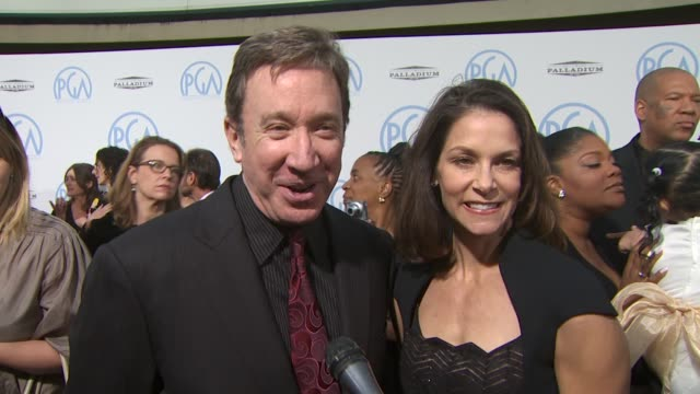 tim allen on presenting being among all the producers at the 2010 producers guild awards at hollywood ca - tim allen stock videos and b-roll footage