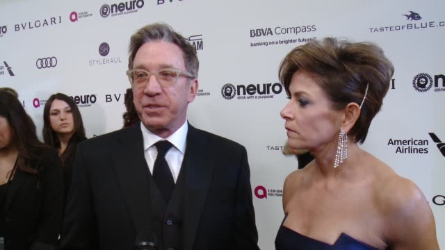 INTERVIEW Tim Allen on the event at 25th Annual Elton John AIDS Foundation's Academy Awards Viewing Party in Los Angeles CA