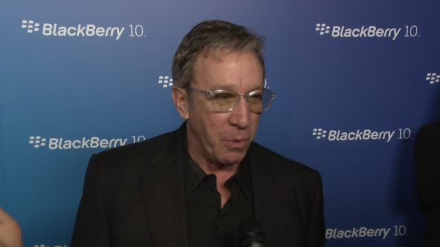interview tim allen on the new blackberry at blackberry celebrates the launch of blackberry z10 smartphone on 3/20/13 in los angeles ca - tim allen stock videos and b-roll footage