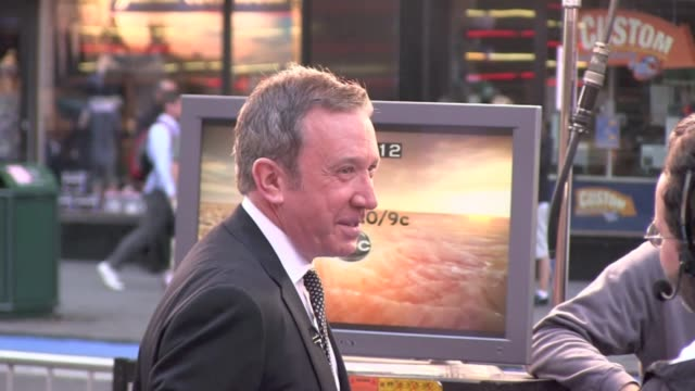 tim allen outside good morning america new york 10/10/11 - tim allen stock videos and b-roll footage