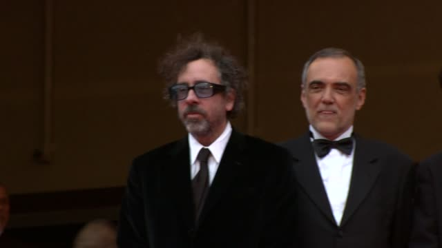Tim Burton and Alberto Barbera at the Robin Hood Red Carpet Cannes Film Festival 2010 at Cannes