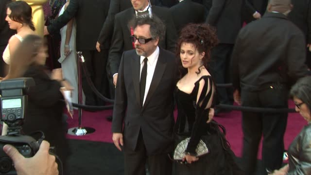Tim Burton and Helena Bonham Carter at the 83rd Annual Academy Awards Arrivals at Hollywood CA