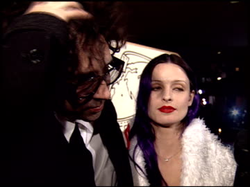 tim burton at the 1995 golden globe awards at the beverly hilton in beverly hills, california on january 21, 1995. - golden globe awards stock videos & royalty-free footage