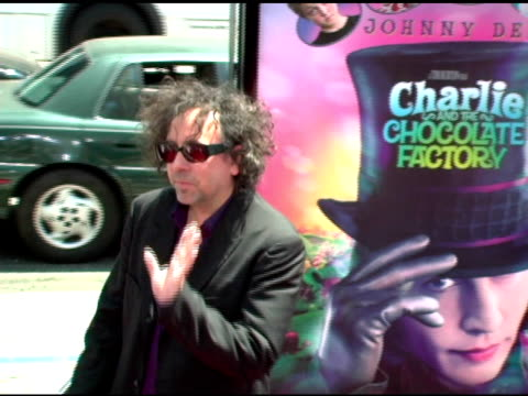 Tim Burton at the 'Charlie and the Chocolate Factory' Premiere at Grauman's Chinese Theatre in Hollywood California on July 10 2005