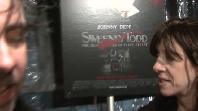 Tim Burton at the 'Sweeney Todd The Demon Barber of Fleet Street' New York Premiere at Ziegfeld Theatre in New York New York on December 3 2007