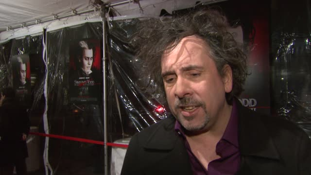 Tim Burton on taking his first endeavor into musical film how his adaptation is different from the original if there was ever a concern about casting...
