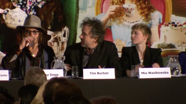 Tim Burton on what attracted him to the story and to use 3D at the Alice in Wonderland Press Conference at London England