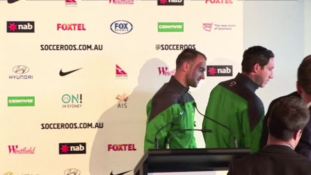 tim cahill and mile jedinak will lead an inexperienced australia in their tough world cup campaign in brazil after a provisional 30 man squad is... - australian national team stock videos & royalty-free footage