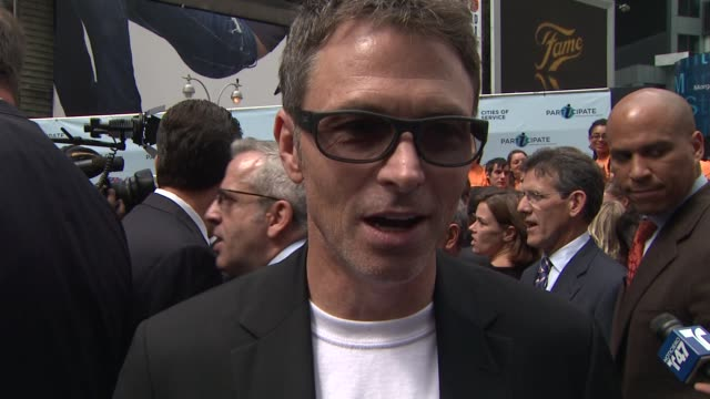 Tim Daly on being out today and why i participate is so important On EIF's effort to increase volunteerism through the tv networks how excited he is...