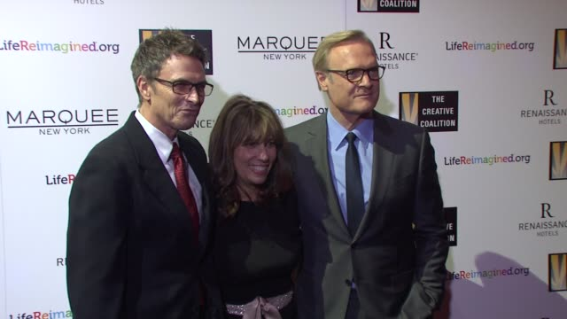 Tim Daly Robin Bronk Lawrence O'Donnell at The Creative Coalition's Spotlight Awards Dinner Gala at Marquee on October 14 2014 in New York City