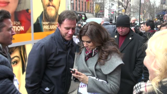 tim dekay and tiffani thiessen at the usa network characters unite event in new york on 2/8/2012 - tiffani thiessen stock videos & royalty-free footage