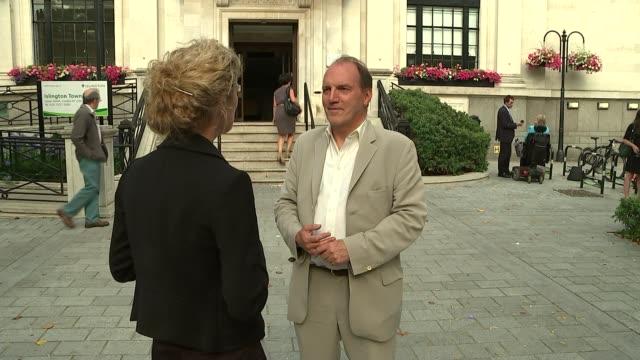 tim farron elected leader of the liberal democrats islington ext simon hughes interview sot - 英自由民主党点の映像素材/bロール