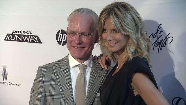 tim gunn and heidi klum at project runway 10th anniversary party at highline on july 17 2012 in new york new york - project runway stock videos and b-roll footage
