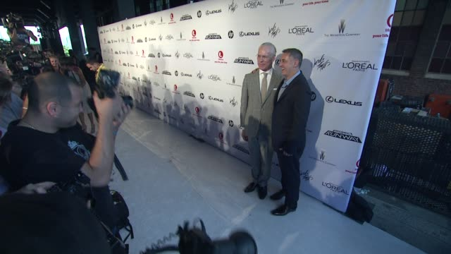 tim gunn and tim nolan at project runway 10th anniversary party at highline on july 17 2012 in new york new york - project runway stock videos and b-roll footage