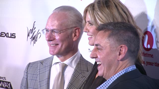tim gunn heidi klum and tim nolan at project runway 10th anniversary party at highline on july 17 2012 in new york new york - project runway stock videos and b-roll footage
