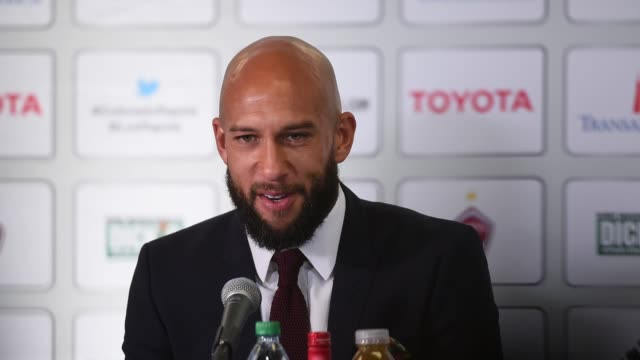 Tim Howard speaking at his press conference announcing his move back to the US to play for MLS's Colorado Rapids Howard talks about what it will be...