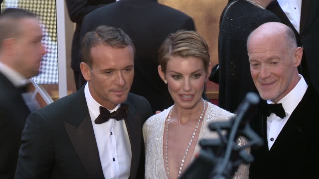 tim mcgraw and faith hill at the 87th annual academy awards arrivals at dolby theatre on february 22 2015 in hollywood california - tim mcgraw stock videos and b-roll footage