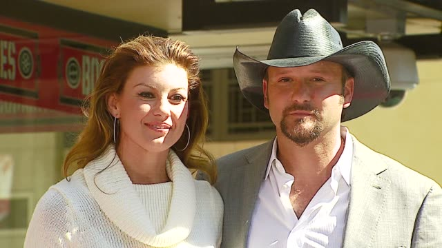 tim mcgraw and faith hill at the dediction of tim mcgraw's star on the walk of fame at hollywood in hollywood california on october 17 2006 - tim mcgraw stock videos and b-roll footage