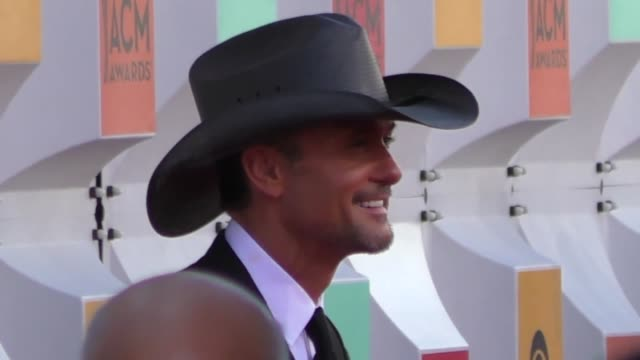 tim mcgraw arriving to the 51st academy of country music awards at mgm grand hotel casino in las vegas in celebrity sightings in las vegas - tim mcgraw stock videos and b-roll footage