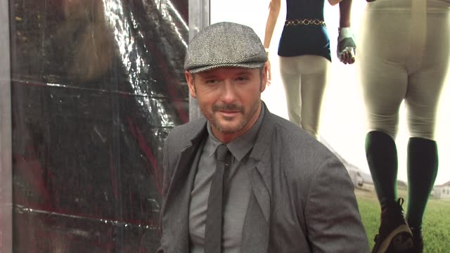 tim mcgraw at the new york premiere of 'the blind side' at new york ny - tim mcgraw stock videos and b-roll footage