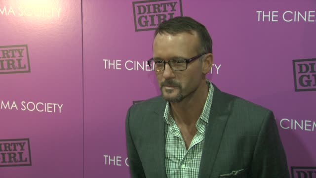 tim mcgraw at the the cinema society the weinstein company host a screening of 'dirty girl' arrivals at new york ny - tim mcgraw stock videos and b-roll footage