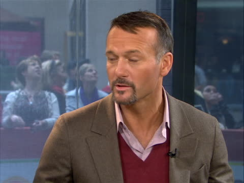 tim mcgraw discusses his role in dirty-girl in an interview on the today show tim mcgraw notes briefly about the plot and that the script resignated... - tim mcgraw stock videos & royalty-free footage