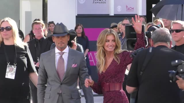 tim mcgraw faith hill arriving to the 52nd academy of country music awards in celebrity sightings in las vegas - tim mcgraw stock videos and b-roll footage