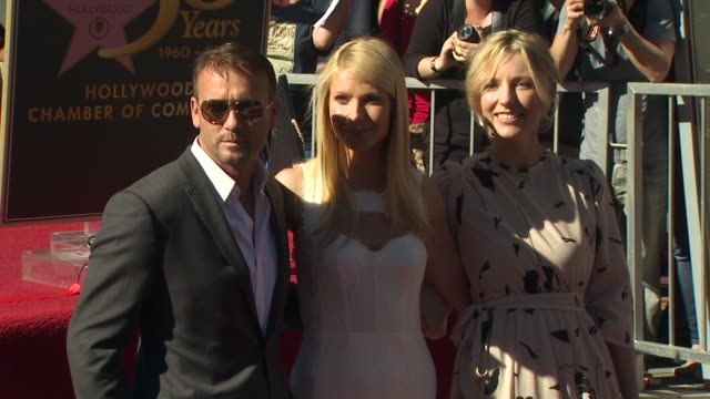 tim mcgraw , gwyneth paltrow and shana feste at the gwyneth paltrow honored with a star on the hollywood walk of fame at hollywood ca. - tim mcgraw stock videos & royalty-free footage