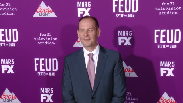 """tim minear at premiere of fx network's """"feud: bette and joan"""" in los angeles, ca 3/1/17 - fx network stock videos & royalty-free footage"""