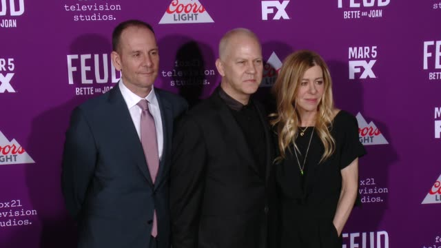 """tim minear, ryan murphy, dede gardner at premiere of fx network's """"feud: bette and joan"""" in los angeles, ca 3/1/17 - fx network stock videos & royalty-free footage"""