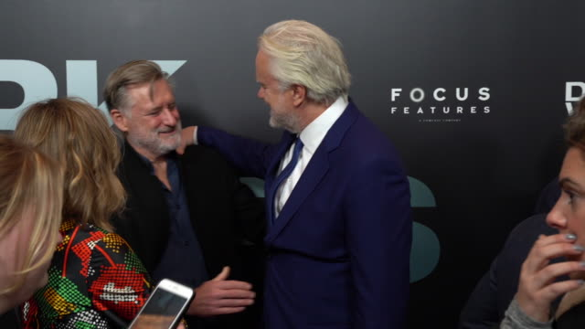 """tim robbins and bill pullman at the """"dark waters"""" new york premiere presented by focus features and participant media at walter reade theater on... - bill pullman stock videos & royalty-free footage"""