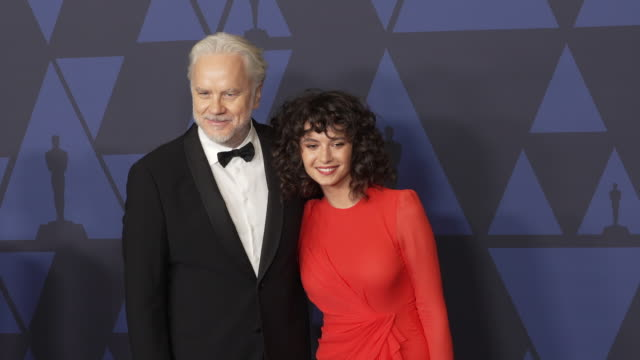 tim robbins and gratiela brancusi at the 2019 governors awards on october 26, 2019 in hollywood, california. - tim robbins stock videos & royalty-free footage