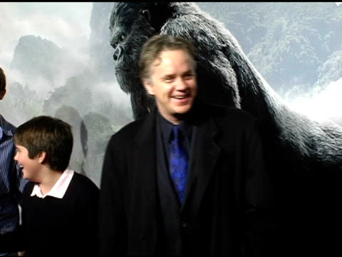 Tim Robbins and Miles Robbins at the 'King Kong' New York Premiere at Loews EWalk and AMC Empire Cinemas in New York New York on December 5 2005