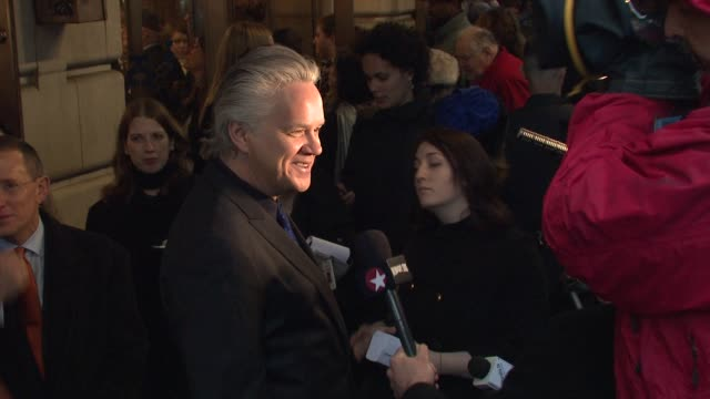 tim robbins at the exit the king - broadway opening night - arrivals at new york ny. - tim robbins stock videos & royalty-free footage