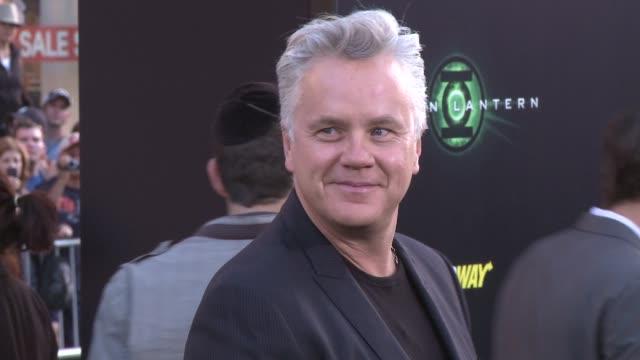tim robbins at the 'green lantern' los angeles premiere at hollywood ca. - tim robbins stock videos & royalty-free footage