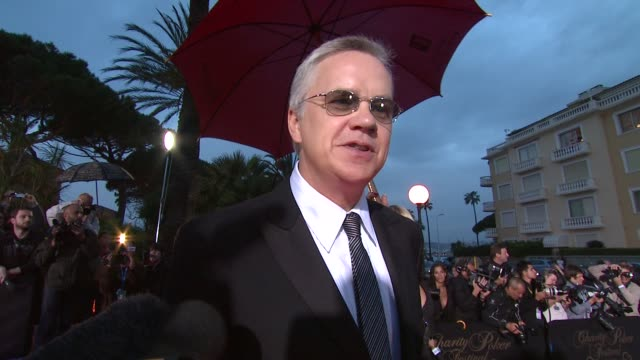 Tim Robbins on the charity he chose to represent and the event at the Cannes Partouche Charity Poker Tournament in Cannes on May 18 2008