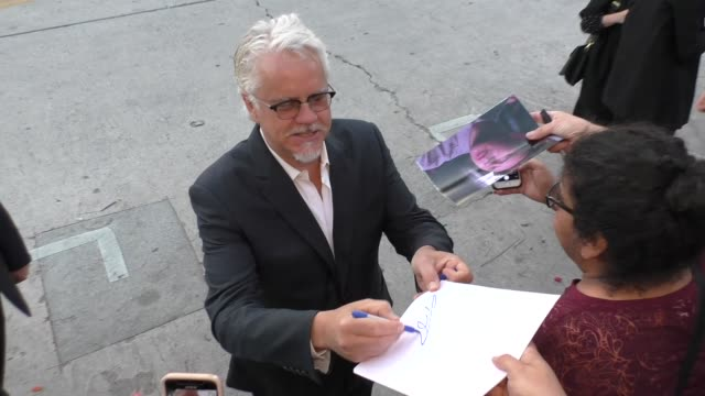 tim robbins signs autographs for fans outside the premiere of blockers at regency village theatre in westwood in celebrity sightings in los angeles, - tim robbins stock videos & royalty-free footage