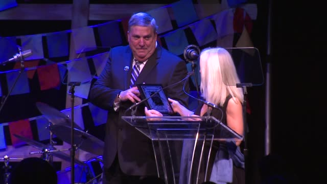 SPEECH Tim Rose accepts his gifts as honoree from Clea Newman at SeriousFun Children's Network Gala In New York at Cipriani 42nd Street on April 02...