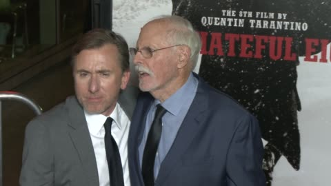 """tim roth and bruce dern at """"the hateful eight"""" world premiere at arclight cinemas on december 07, 2015 in hollywood, california. - arclight cinemas hollywood stock videos & royalty-free footage"""