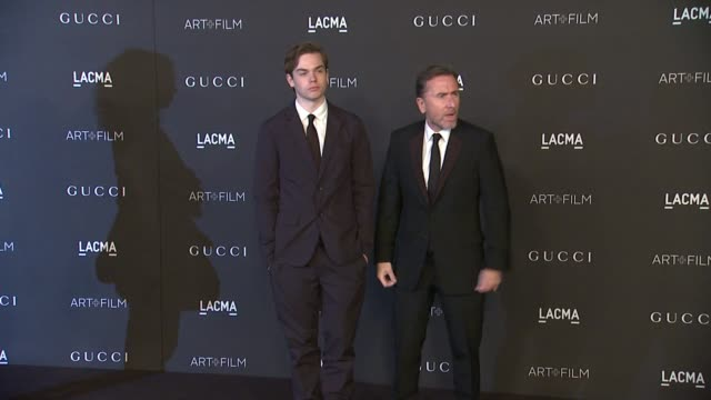 tim roth at 2014 lacma artfilm gala honoring barbara kruger and quentin tarantino presented by gucci in los angeles ca - tim roth stock videos and b-roll footage