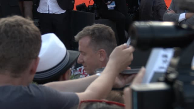 tim roth at opening night gala 'birdman' red carpet - 71st venice international film festival at palazzo del casino on august 27, 2014 in venice,... - 第71回ベネチア国際映画祭点の映像素材/bロール