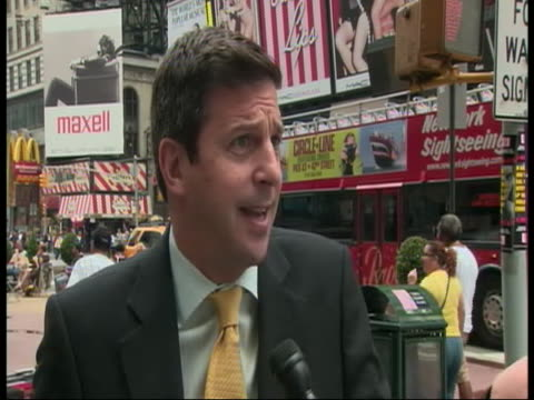 """tim tompkins, president of the times square alliance comments on how people are reacting to to the times square bomb plot. tim tompkins states, """"what... - crime or recreational drug or prison or legal trial stock videos & royalty-free footage"""