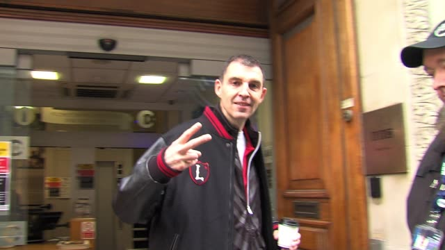 tim westwood leaves after appearing as a guest tim westwood at bbc radio one studios on march 17, 2011 in london, england - bbc radio stock videos & royalty-free footage