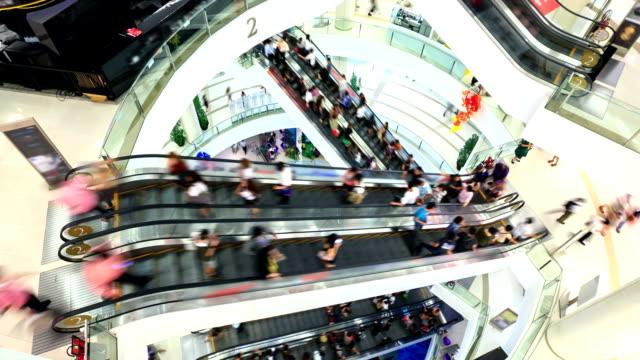 HD Timalapse: Centre commercial piéton