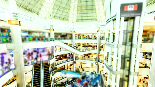 HD Timalapse: Shopping mall pedestrian