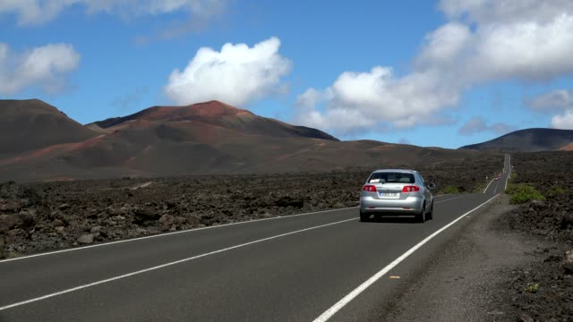 timanfaya national park, lanzarote, canary islands, spain, atlantic, europe - atlantic islands stock videos & royalty-free footage
