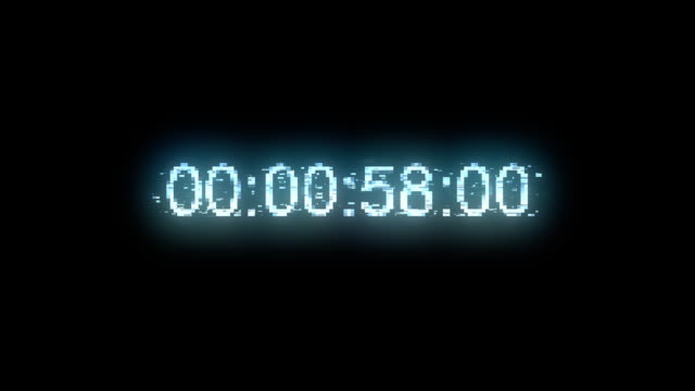 time 1007: timecode countdown glitch malfunction real time one minute 24 fps. - stop watch stock videos & royalty-free footage